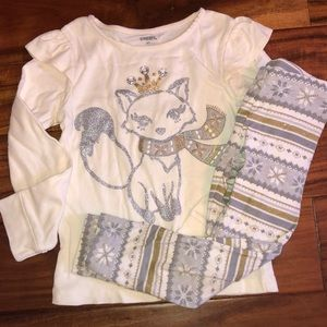 Gymboree Gold silver fox outfit 4T